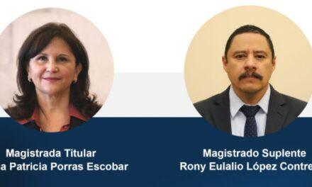 Gloria Porras y Rony López son elegidos como Magistrados de la Corte de Constitucionalidad